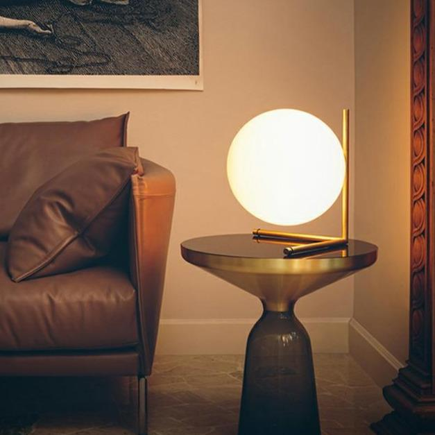 Ran | Frosted Sphere Table Lamp