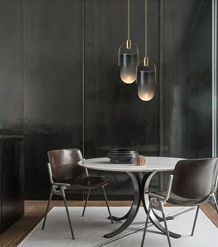 Triss | Smokey Glass Modern Pendant Light