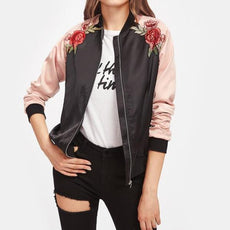 Embroidery Patch Contrast Jackets
