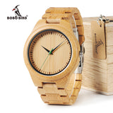 Mens Bamboo Watch with Wooden Gift Box