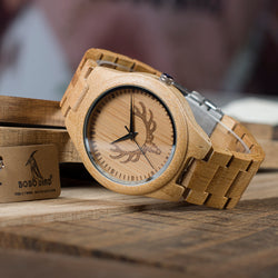 Mens Bamboo Watch - Antlers