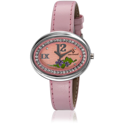 Austrian Diamonds Studded pink Wrist Watch _ADW0000207 - www.annodominii.com