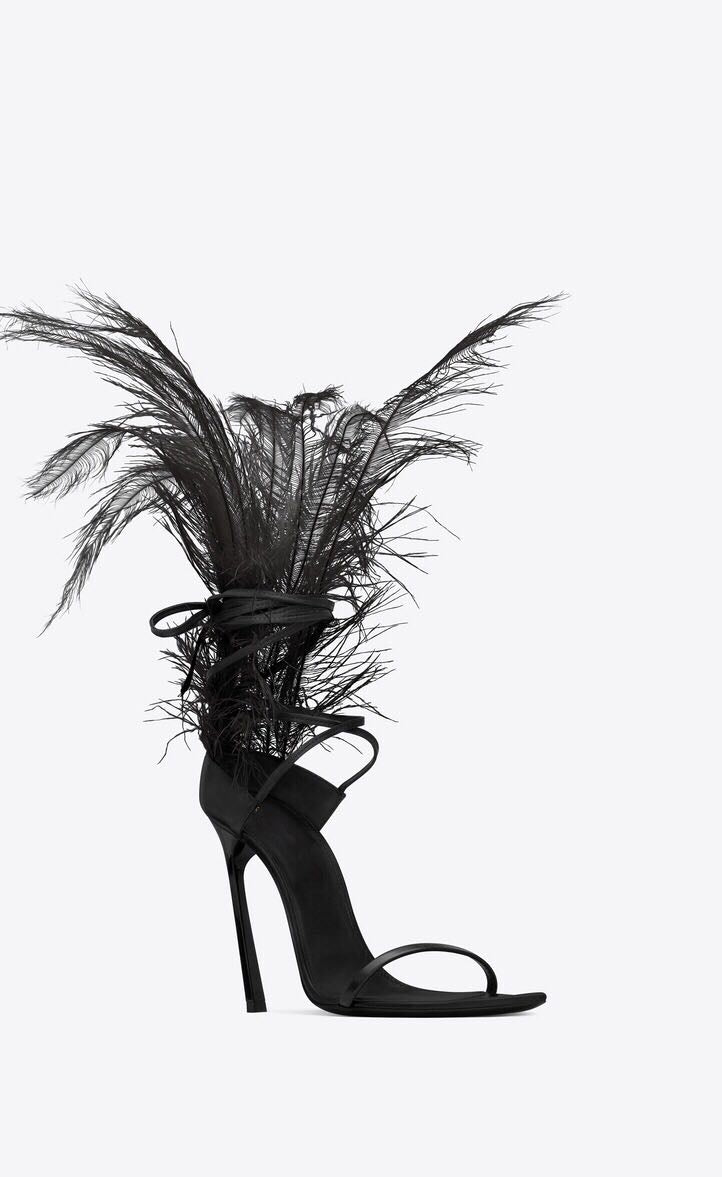 """I Know What You Need"" Feather High Heels"