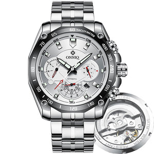 Mechanical Automatic Silver Dial Men's Watch - Add Your Personalization