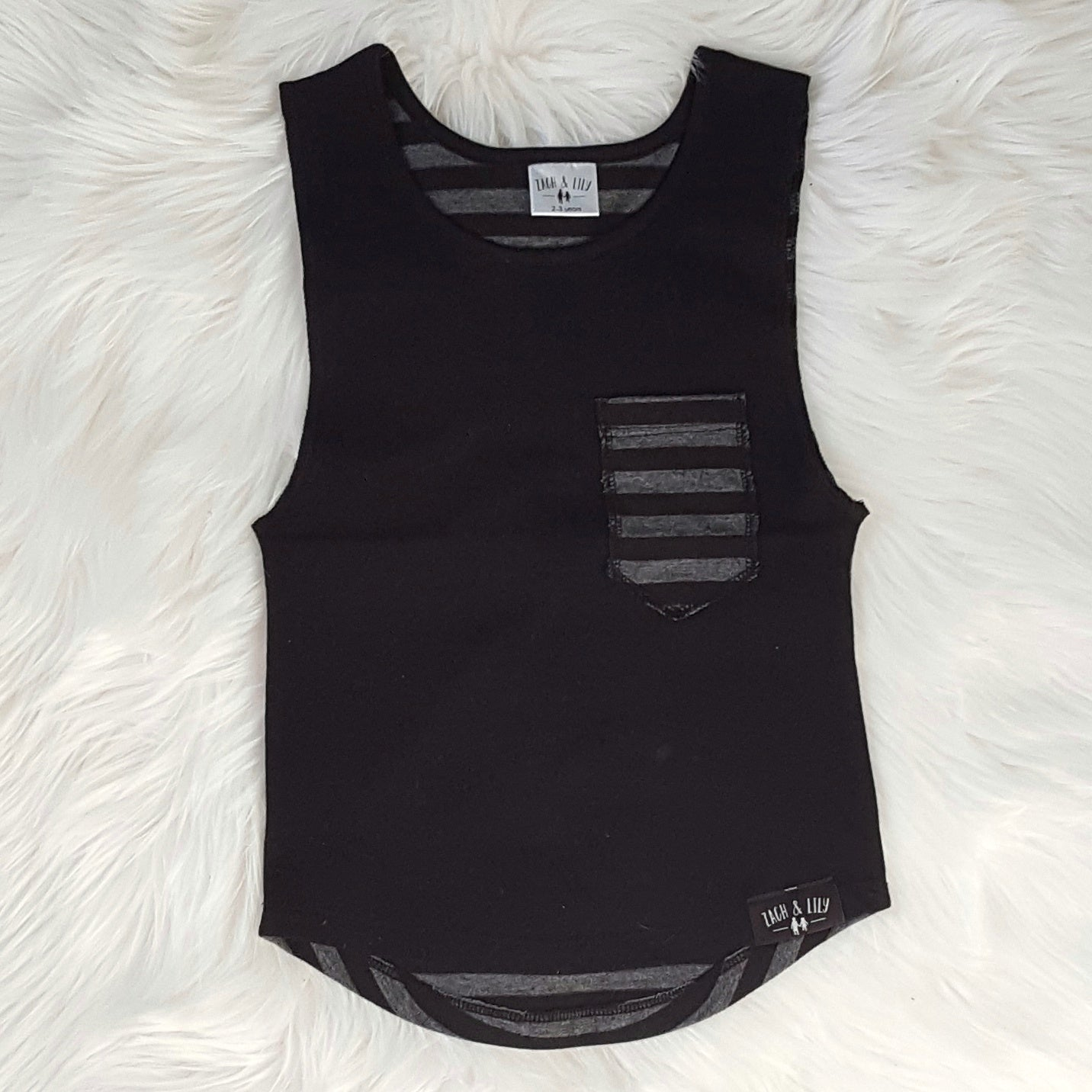 Boys round neck wide arm vest