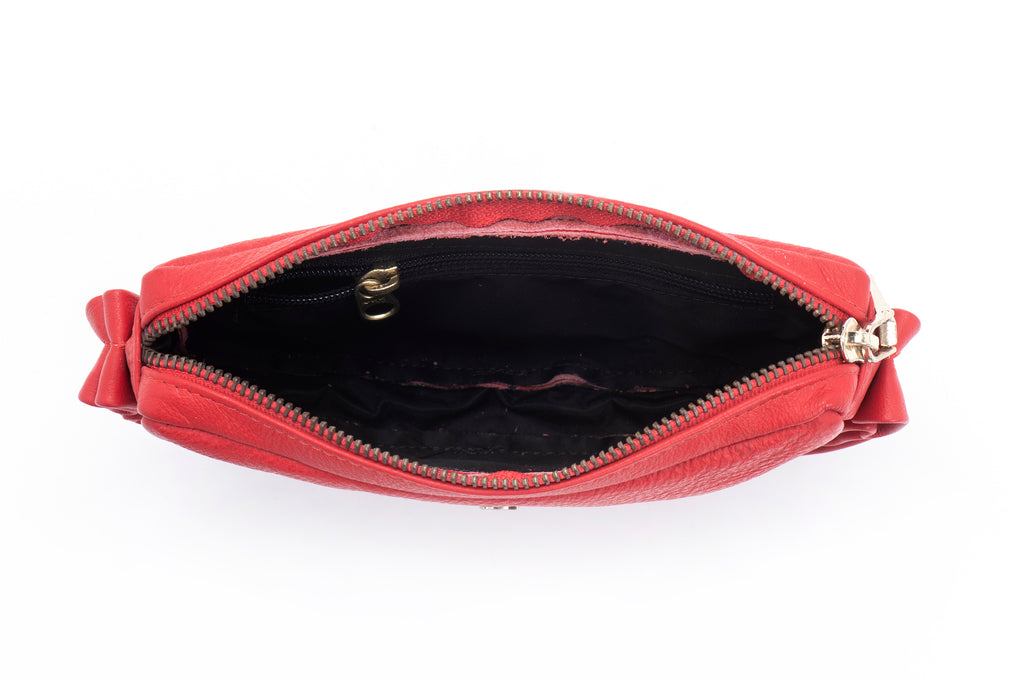 Leather Pouch - Leather Bum Bag - Red