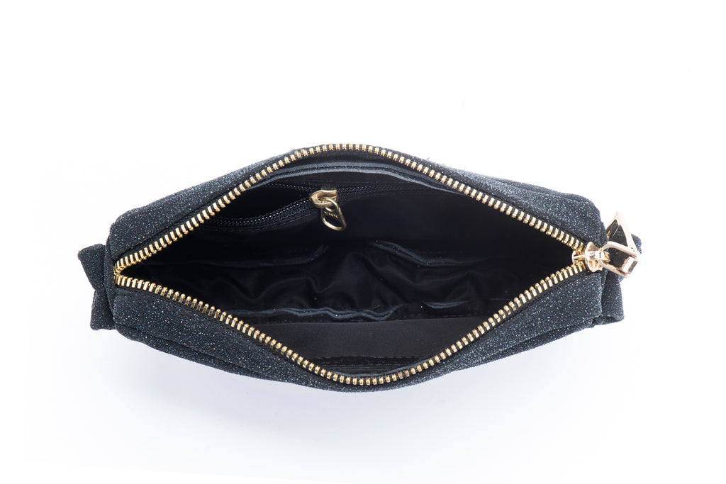 Leather Pouch - Leather Bum Bag - Shiny black