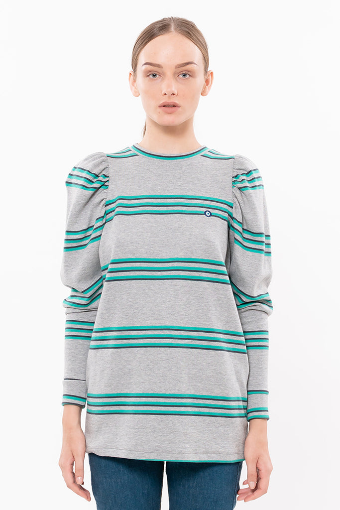 Eye 🧿 T shirt - Gray with striped