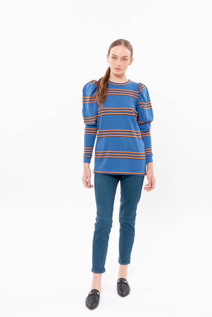 Eye 🧿 T shirt - Blue with striped