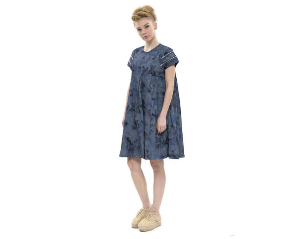 "Blue ""Tie Dye"" Dress"