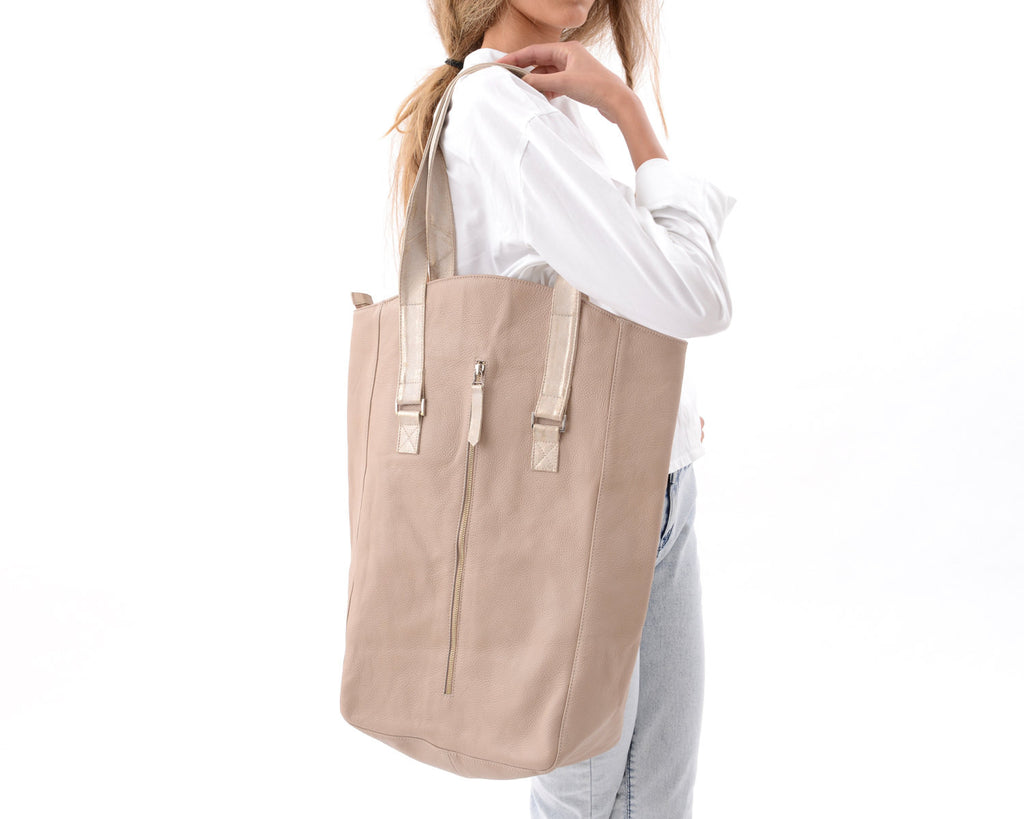 Beige Tote Bag Was 410$ Now 170$