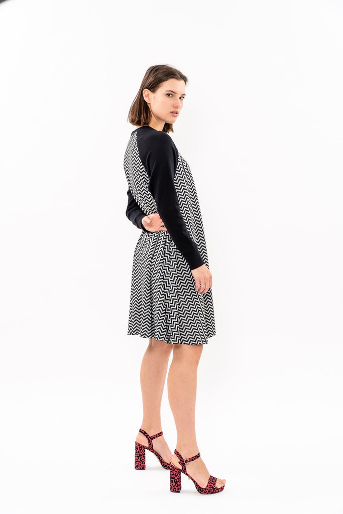 be7f3cf22c69 Swing Dress - Silver and black was 262  now 164
