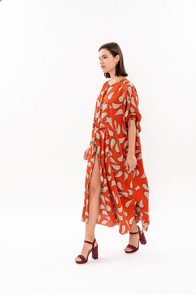 Winter 19 - Maxi Japanese Dress - Red