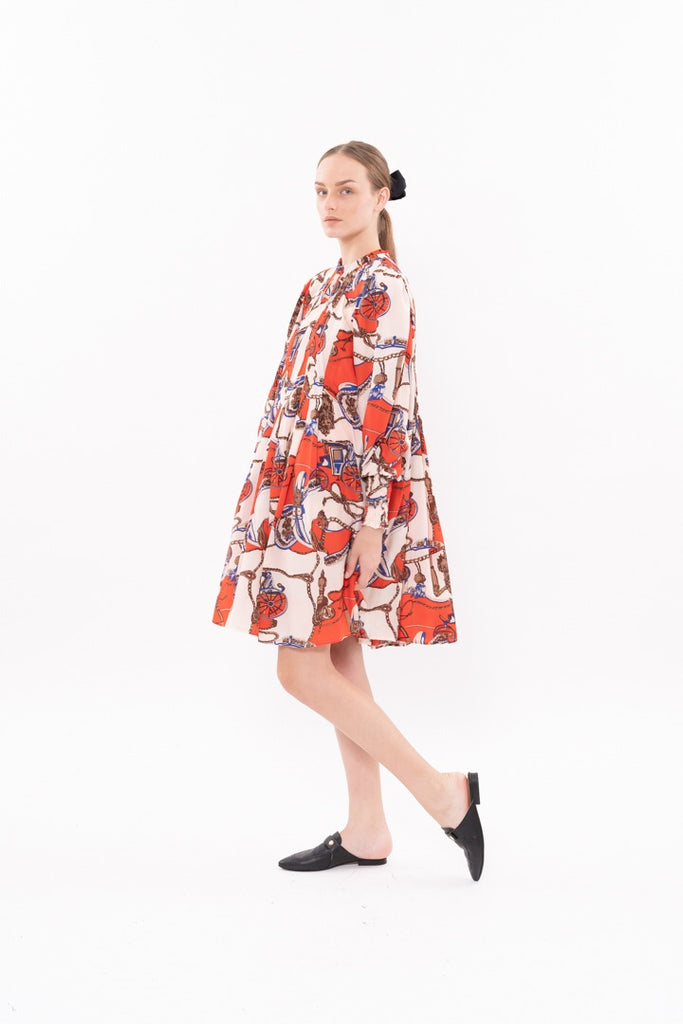 Winter 20 - Diver Dress - Red jewelry