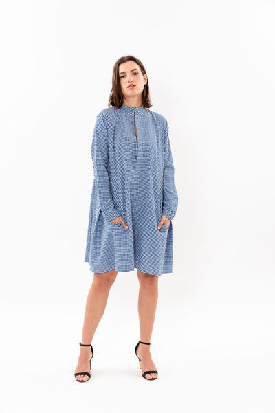 Suzan Dress - Blue and White