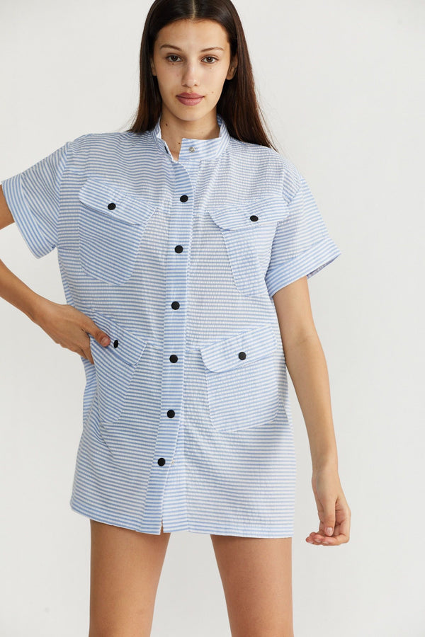 🌞Summer 2021 - African shirt - Pale Blue