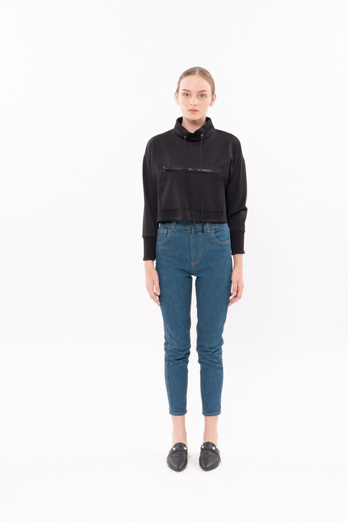 Winter 20 - Crop Sweatshirt - black