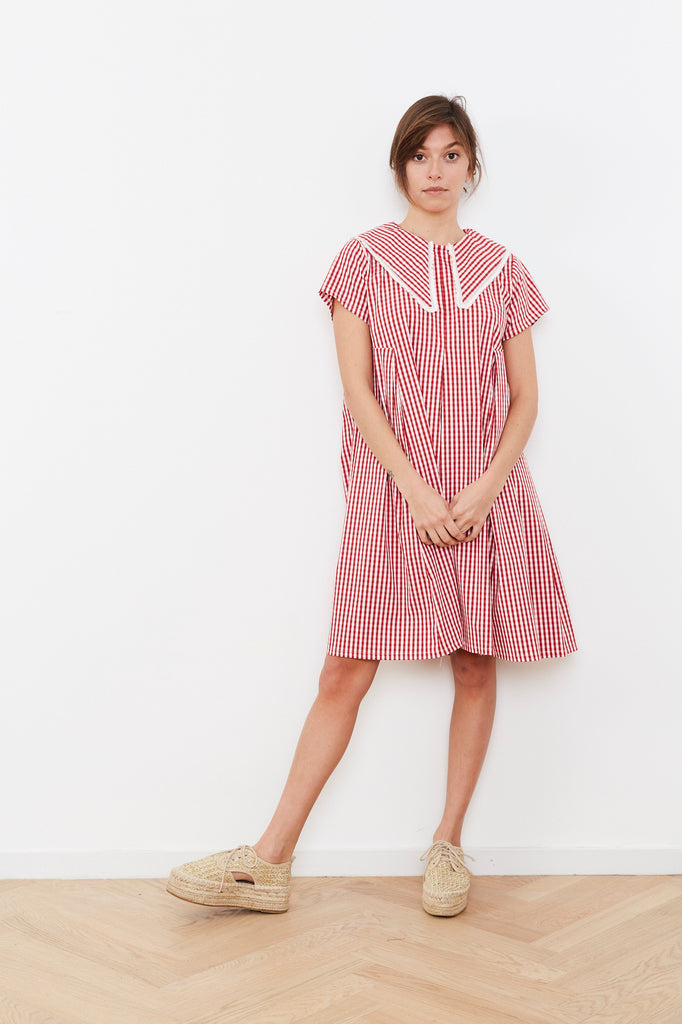 Summer 2020 - Hanalle dress - Red and Pink chequered