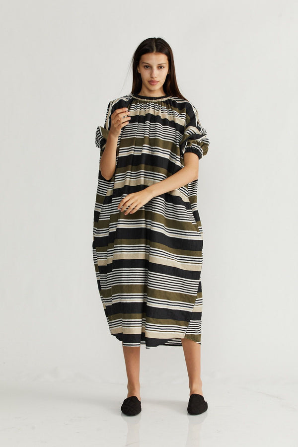 🌞Summer 2021 - Sahara dress - Army stripes