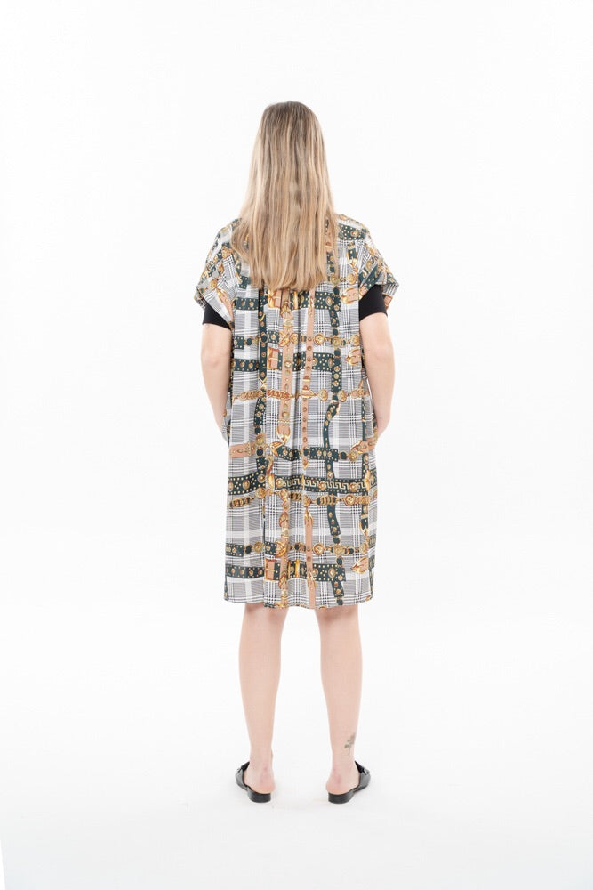 SUMMER CH'I DRESS - GREEN ROYAL PRINT