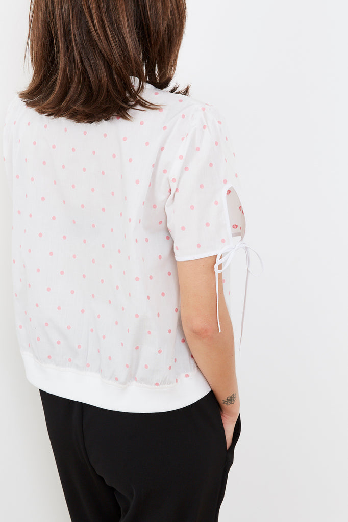 Summer 2020- Key shirt 🔑- White with pink dots