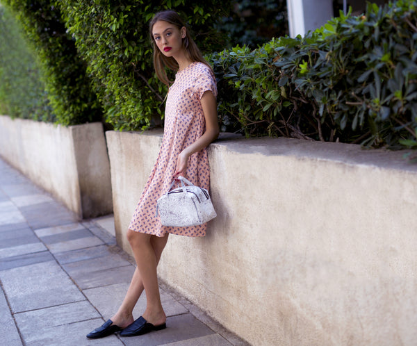 Pink with paisley print HANALE dress