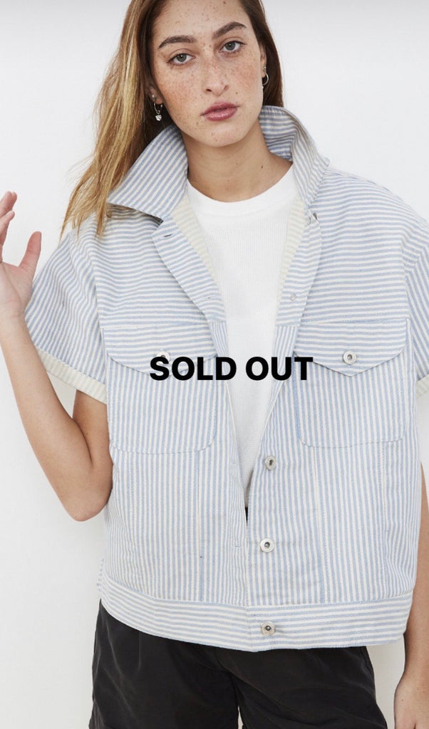 Summer 2020 - Denim jacket - Pale blue stripes