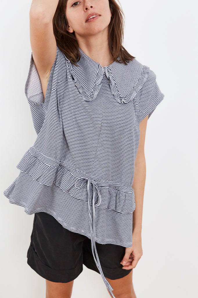 Summer 2020- Lucca shirt  - Blue and white striped