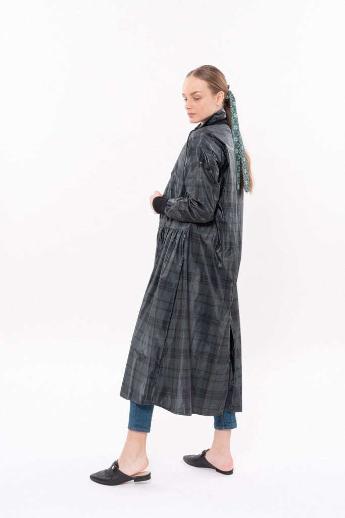 Winter 20 - Parsa Trench Coat - Green Nylon