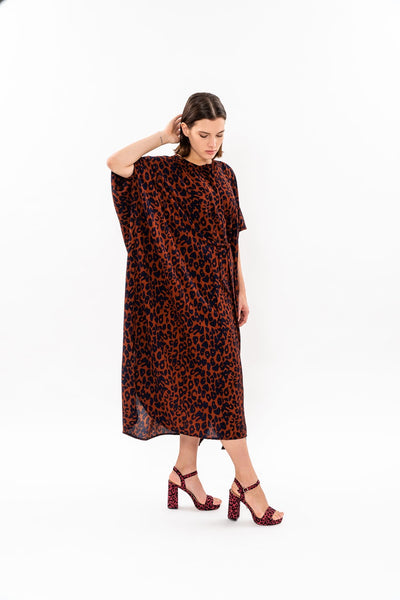 Winter 19 - Maxi Japanese Dress - Leopard