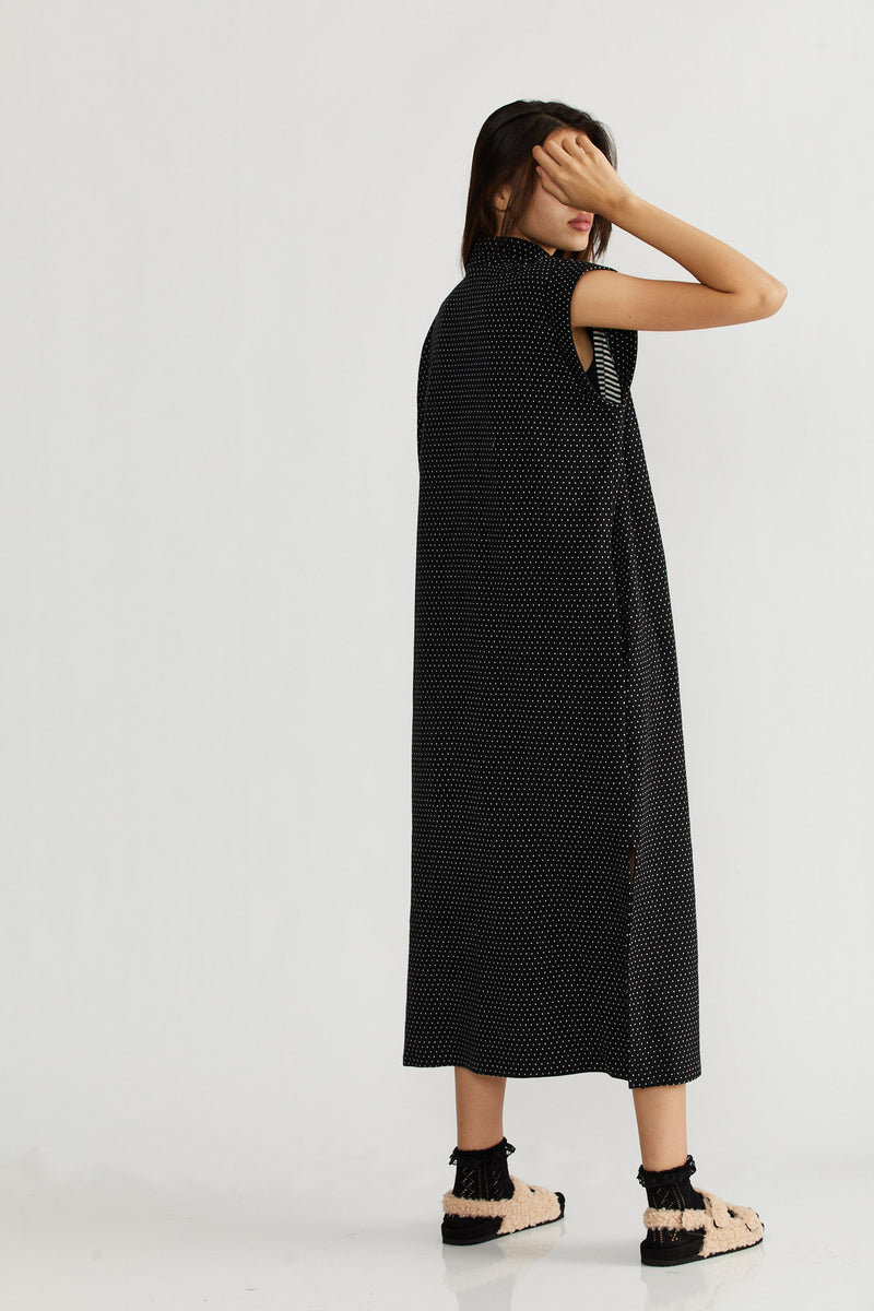 🌞Summer 2021 - Wadi Rum dress - Black with dots