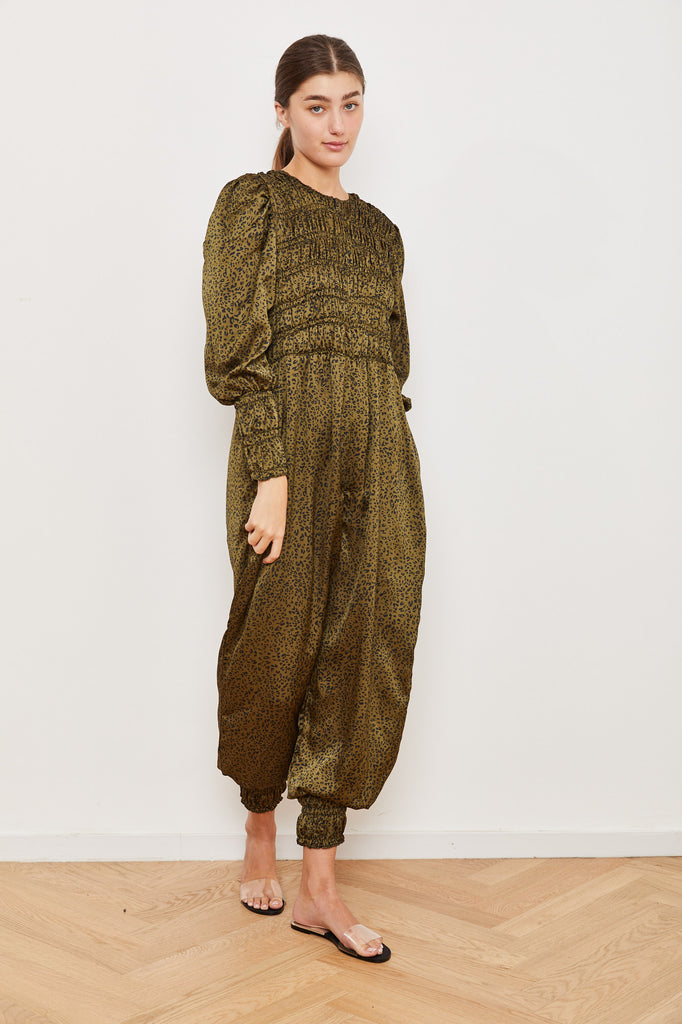 Winter 2021 - Yefet Jumpsuit - Green Leopard