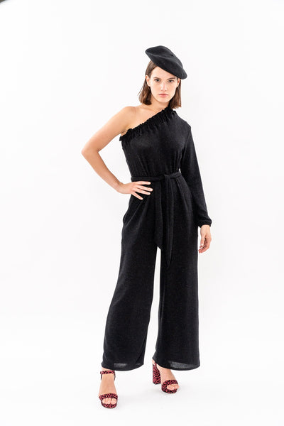 Winter 19 - Moon 🌛 One Shoulder jumpsuit - Black