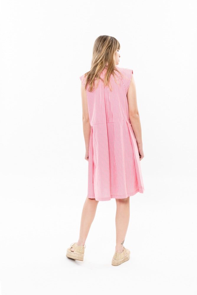 SUZAN DRESS - PINK CHECKERED