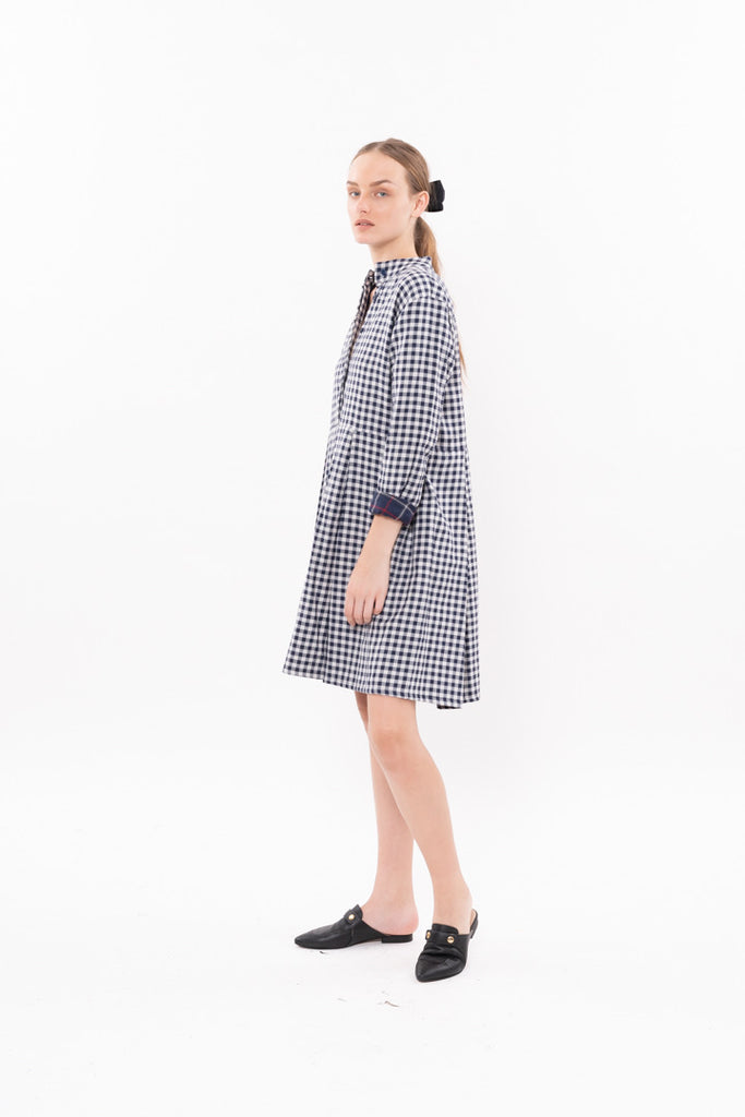 Winter 20 - Suzan Dress -  Blue and White checkered