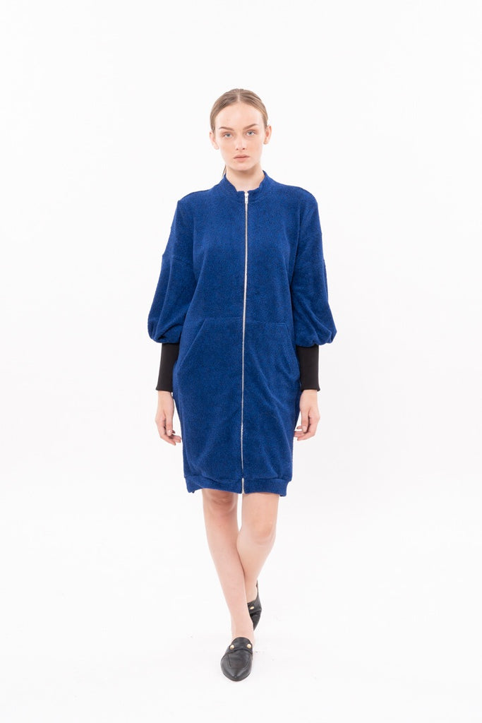 Winter 20 - Zipper coat - Blue