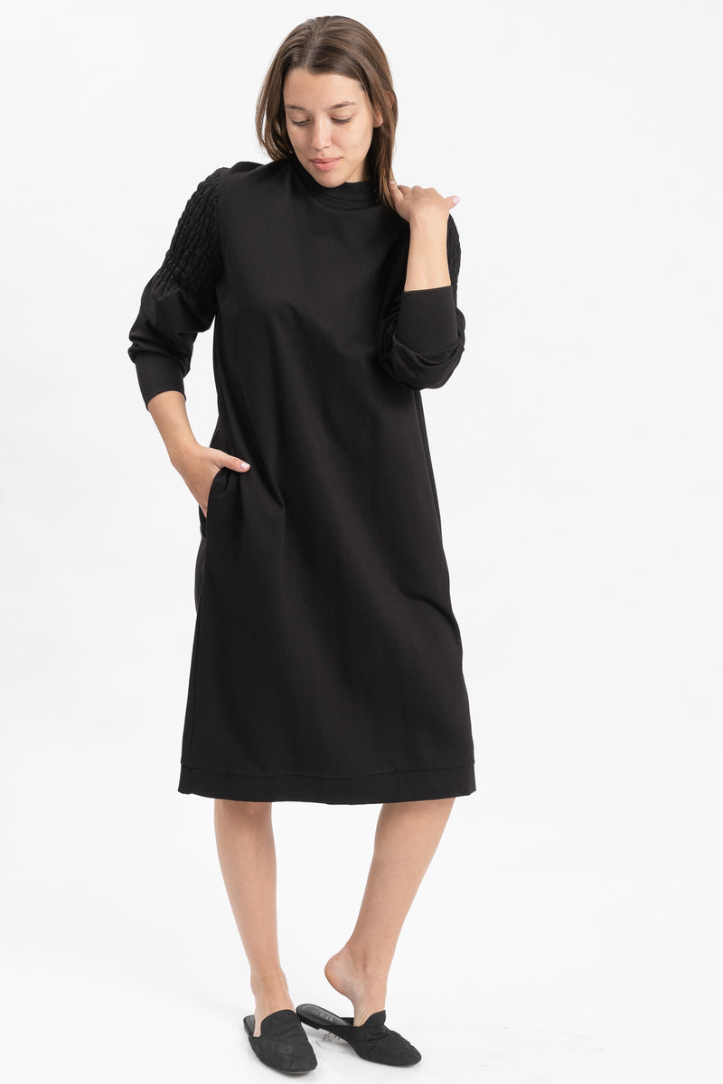 Outlet- Sweatshirt dress - Black