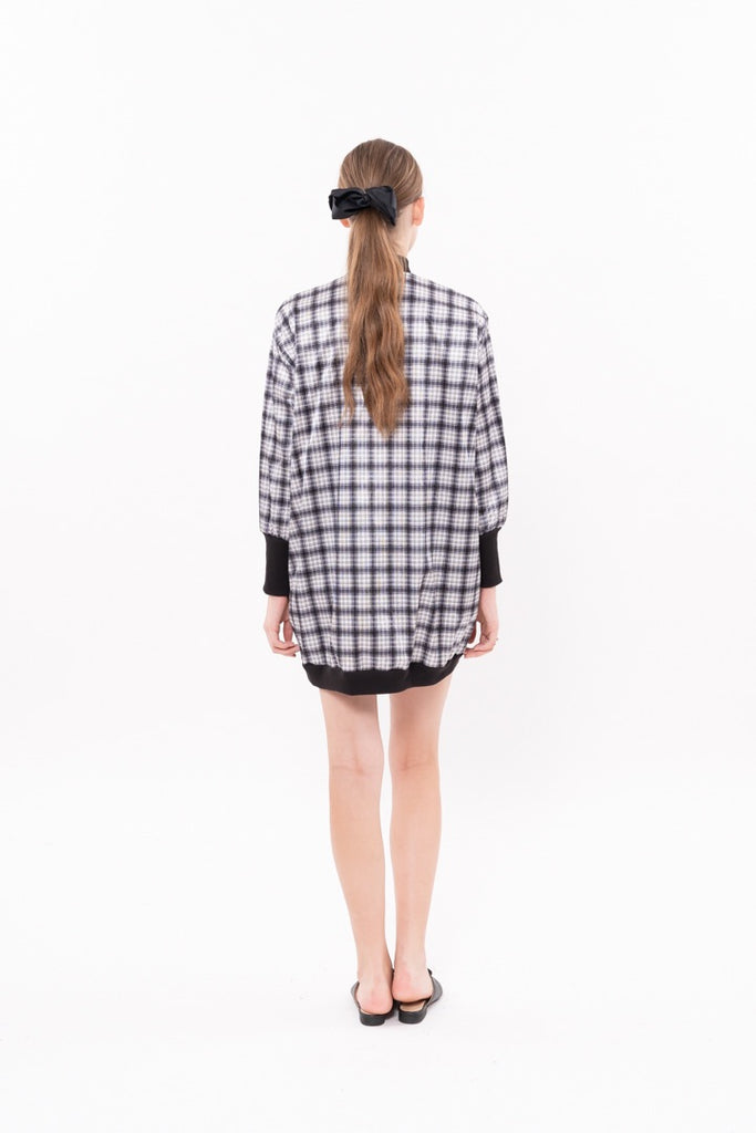 Winter 20 - Bomber Dress - Black checkered