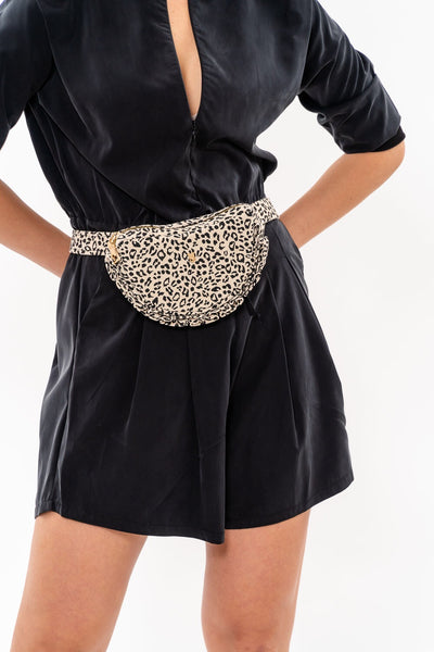Leather Pouch - Leather Bum Bag - Leopard