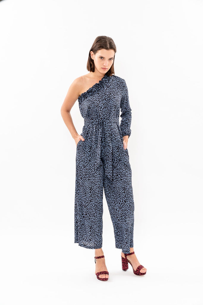 Winter 19 - Moon 🌛 One Shoulder jumpsuit - Blue