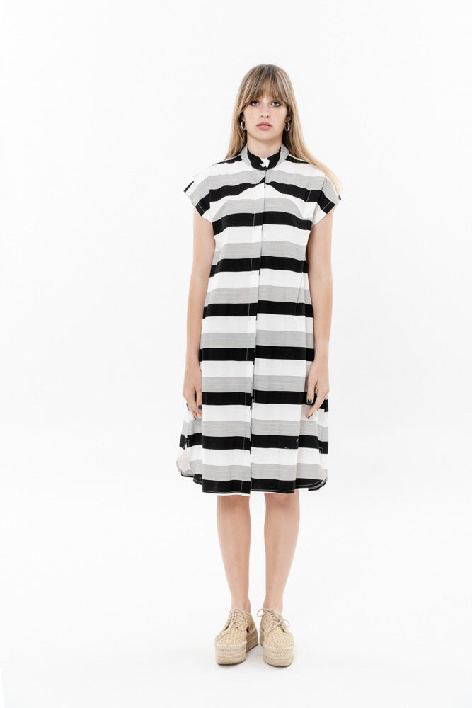 SPACE DRESS - BLACK AND WHITE