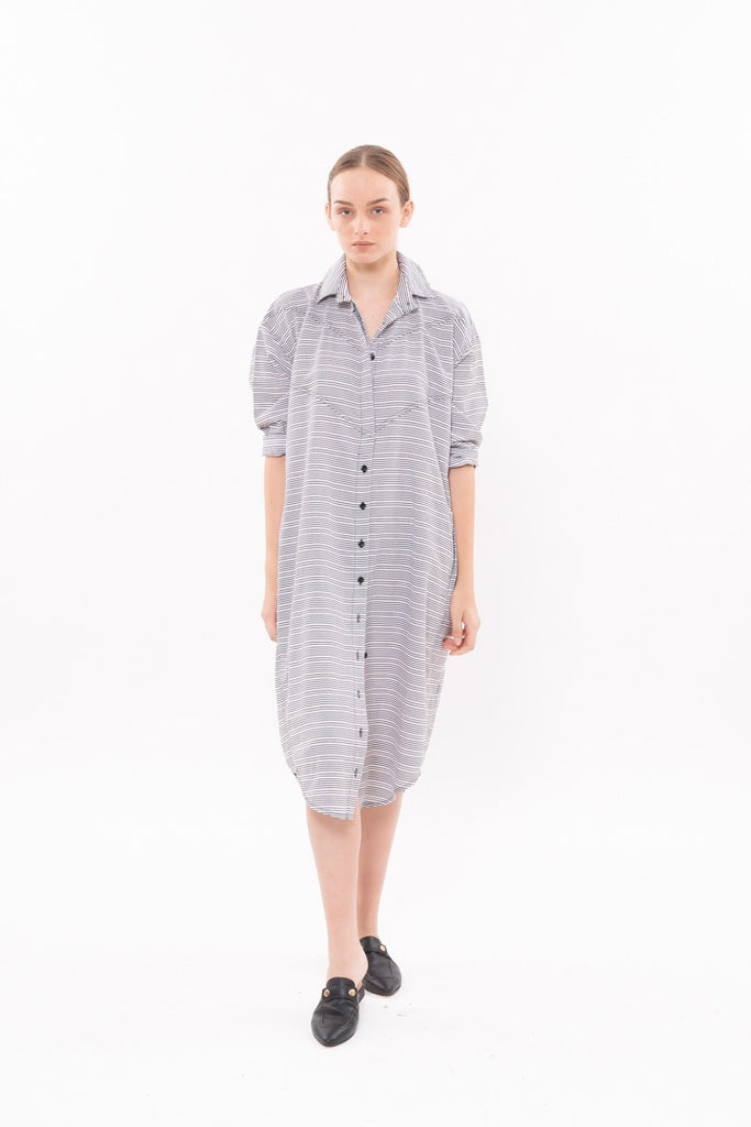 Winter 20 - DIM SUM DRESS - Black stripes