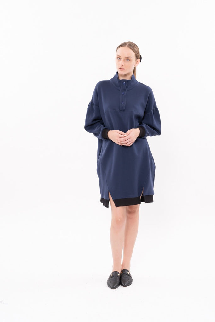 Winter 20 - Lucky cat Dress -  Blue