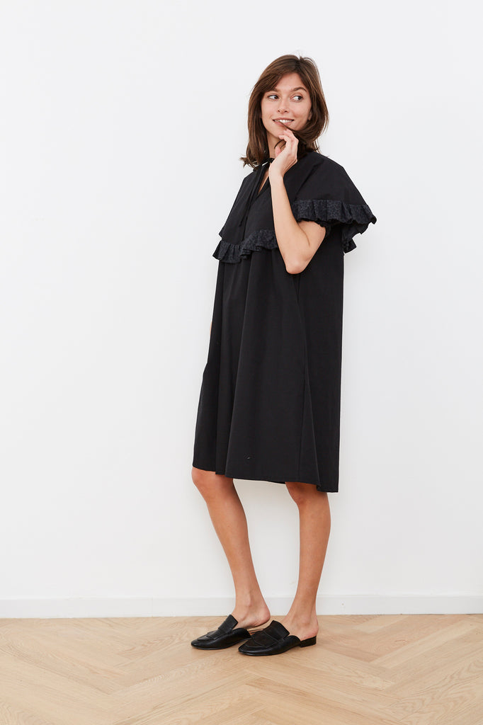 Summer 2020- Cape dress in Black