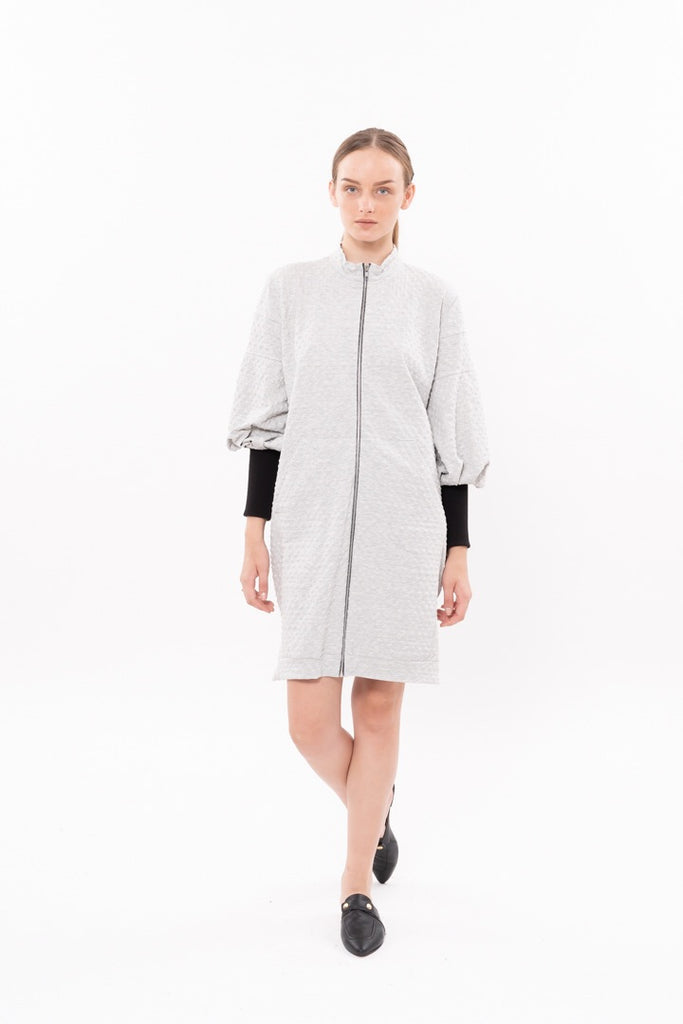 Winter 20 - Zipper coat - Light Gray