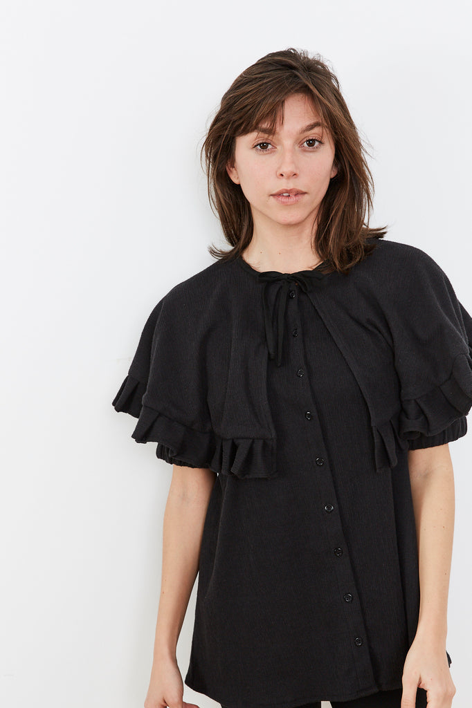 Summer 2020- Cape shirt in black