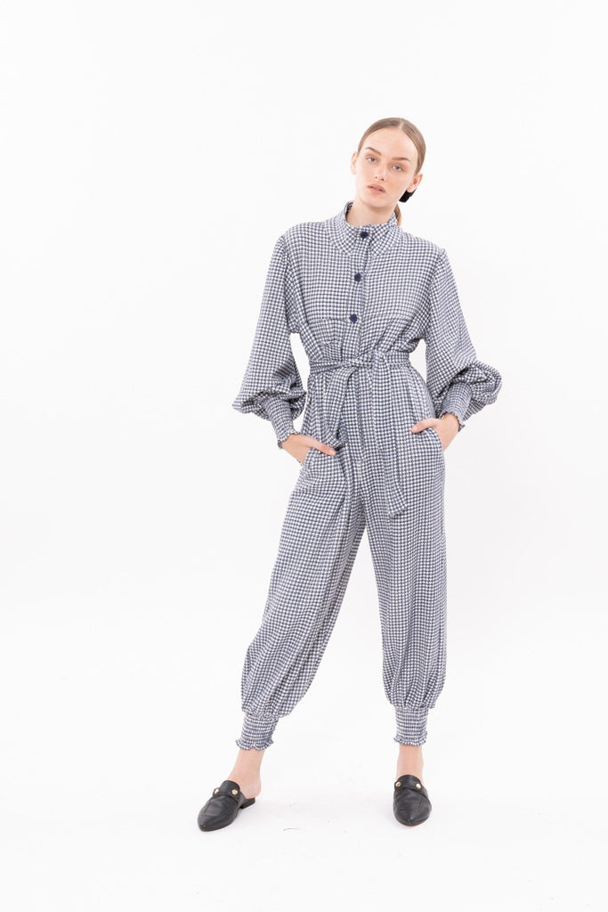 Winter 20 -  Cuddle Maxi Jumpsuit - Blue tweed