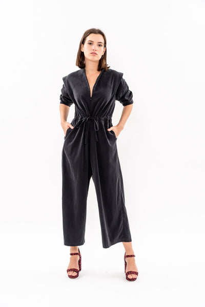 Winter 19 -  George Maxi Jumpsuit - Black