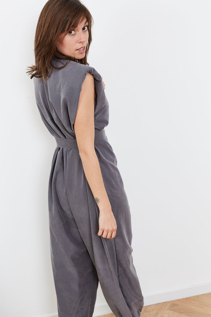 Summer 2020 -  Lucy Maxi Jumpsuit - Gray