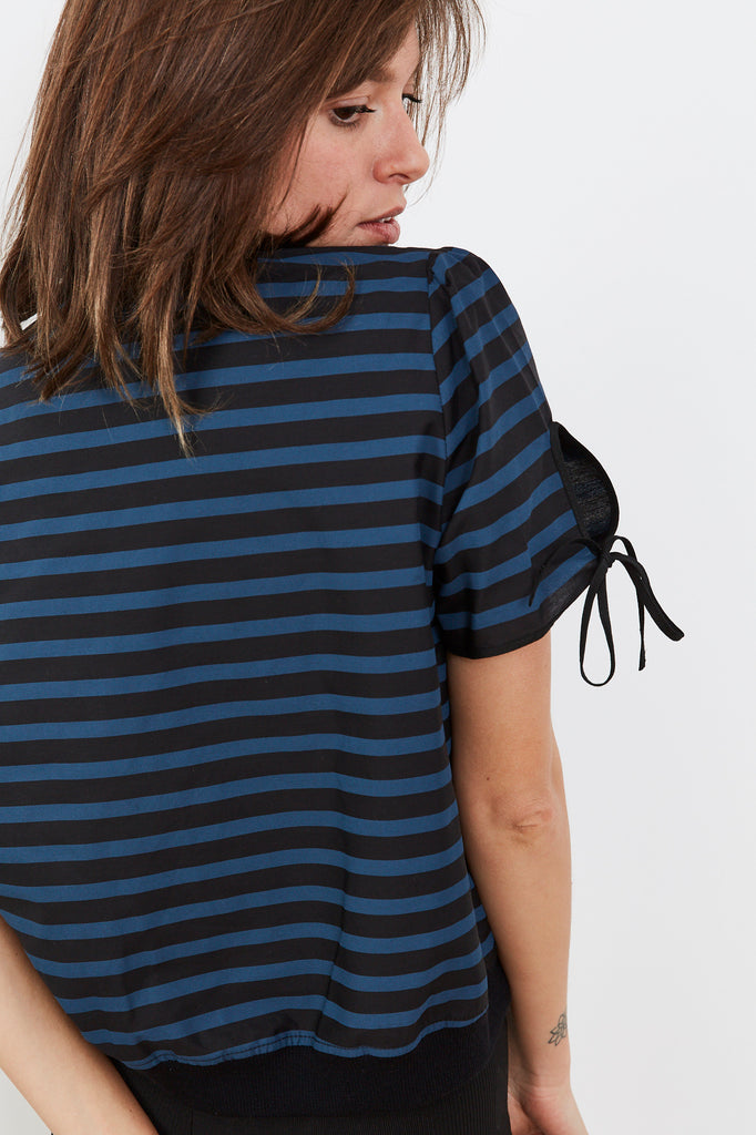 Summer 2020- Key shirt 🔑- Black and Blue stripes